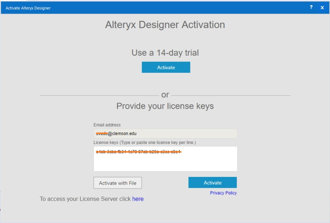 Alteryx Registration 1