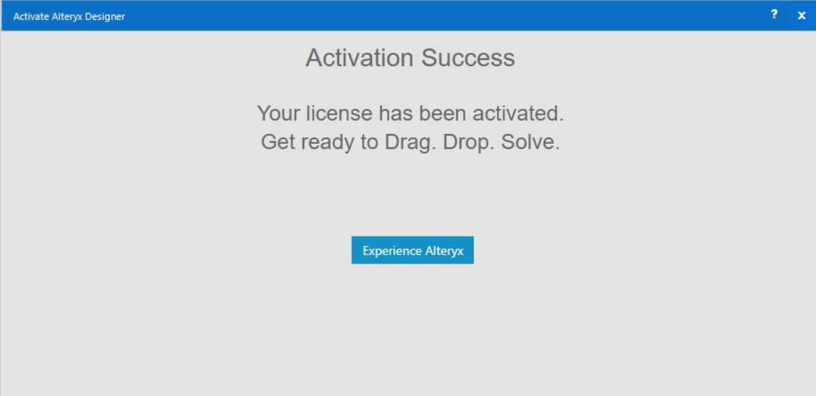 Activation confirmation