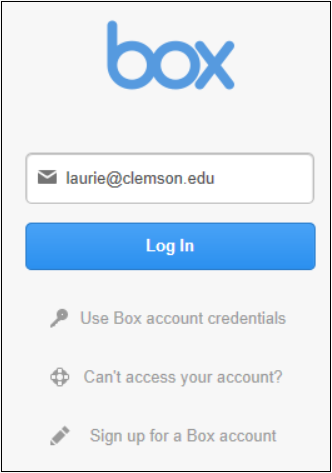 Again, Put In Your Clemson Username@clemson.edu And This Time Click Log In.