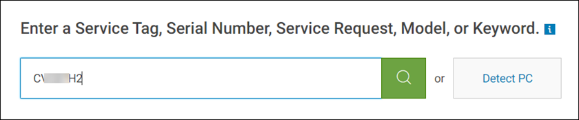 Enter or detect Service Code