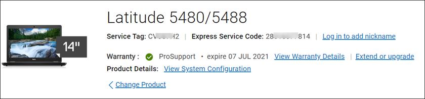 Dell Warranty Information