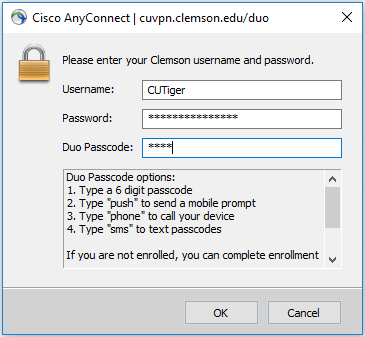 HOW TO: Connect to the Clemson VPN (CUVPN)