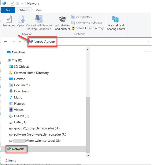 Windows Group Drive