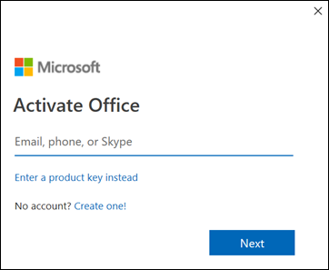 Activate Office