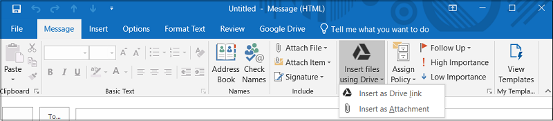 Google Plug In for MS Office 2016