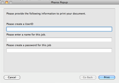 Submitting a Paw Prints Public print job from Mac OS - confirmation pop-ups