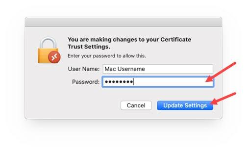 Mac password