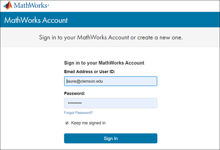 Sign in to MathWorks