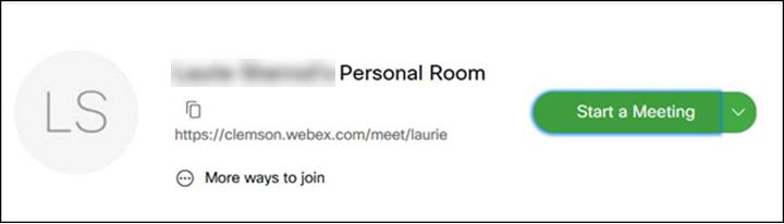WebEx Start Meeting