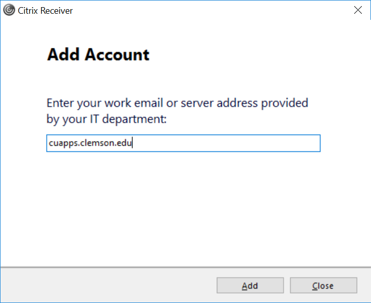 Installation Instructions for Citrix Receiver - Windows 10