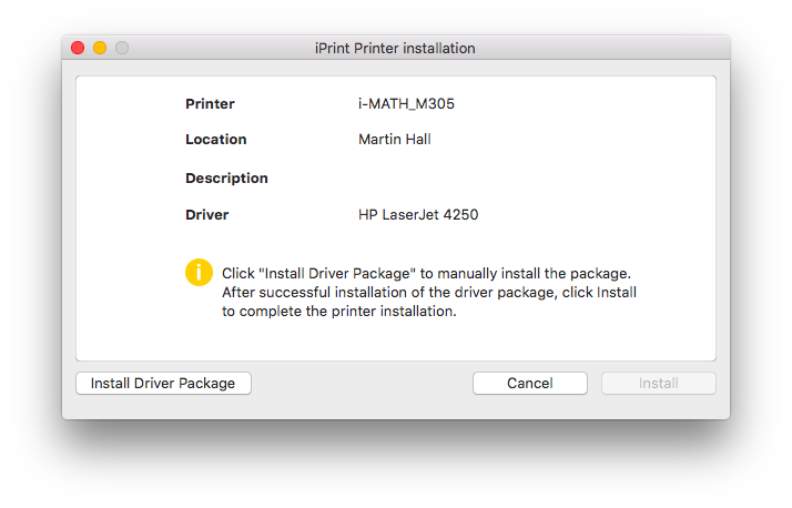Install Driver Package