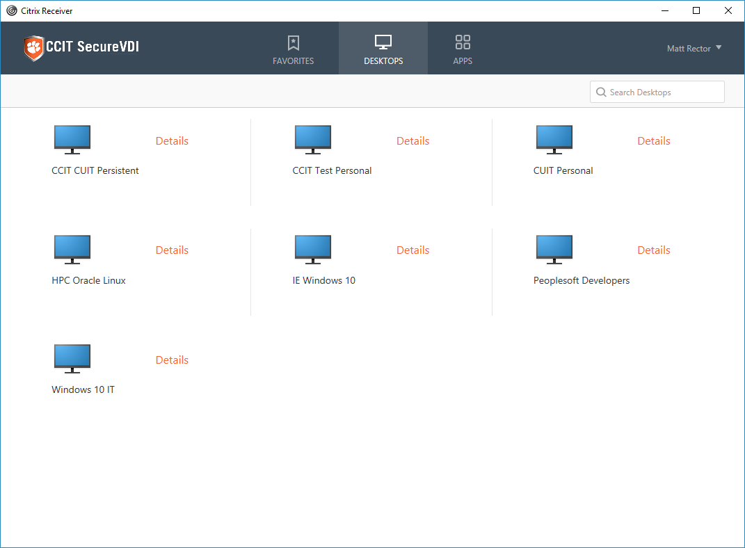Setting up Citrix Workspace for SecureVDI