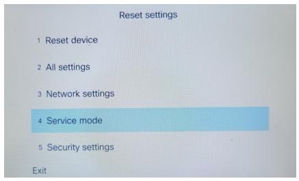Select Service Settings