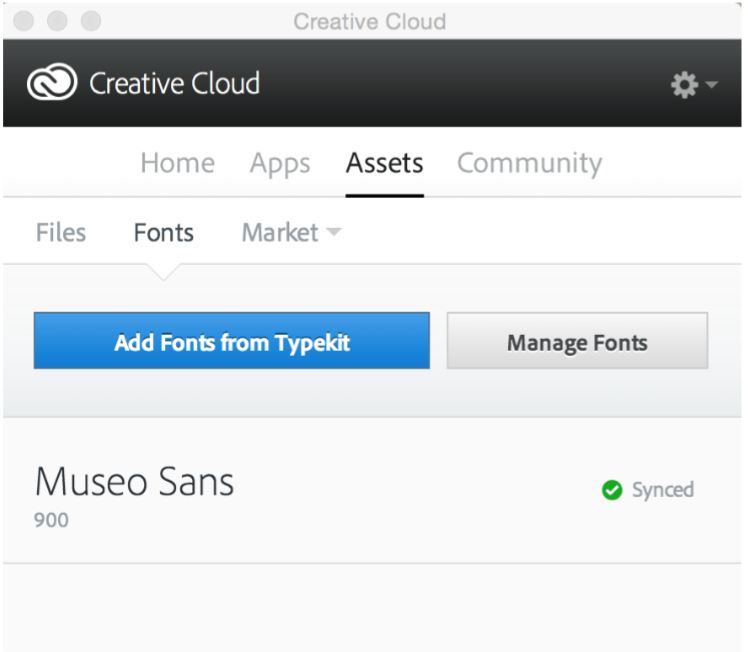 Adding Fonts in Adobe Creative Cloud