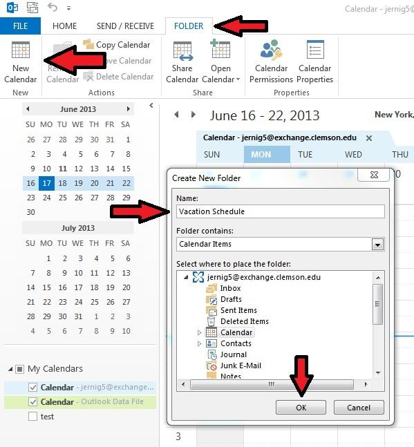 Outlook Calendar 2013